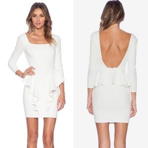 NBD x Revolve White Peplum Dress Size XS